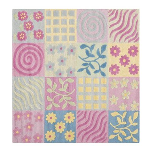 Safavieh Pink and Multi-Colored Kids Area Rug,SFK356A-5SQ