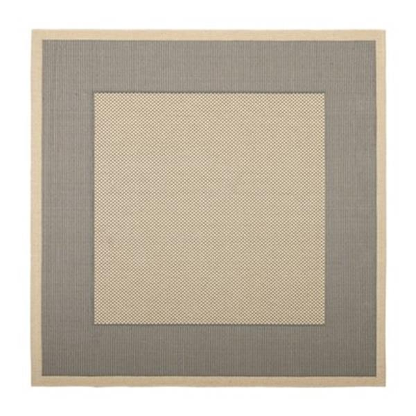 Safavieh Courtyard 8 ft x 8 ft Grey and Cream Area Rug