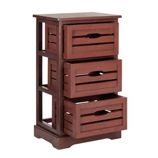 Safavieh Samara 29.5-in Distressed Red Cabinet Table