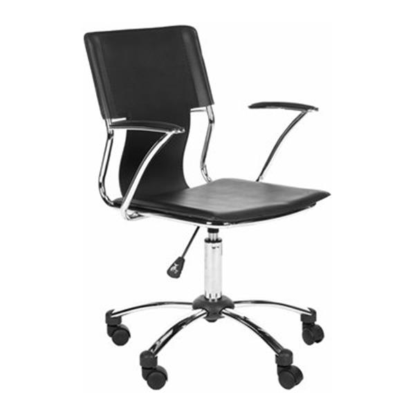 Safavieh 39.4-in Black Kyler Desk Chair