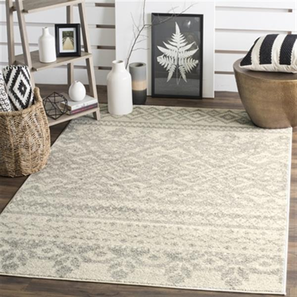 Safavieh Adirondack Ivory and Silver Area Rug,ADR107B-6