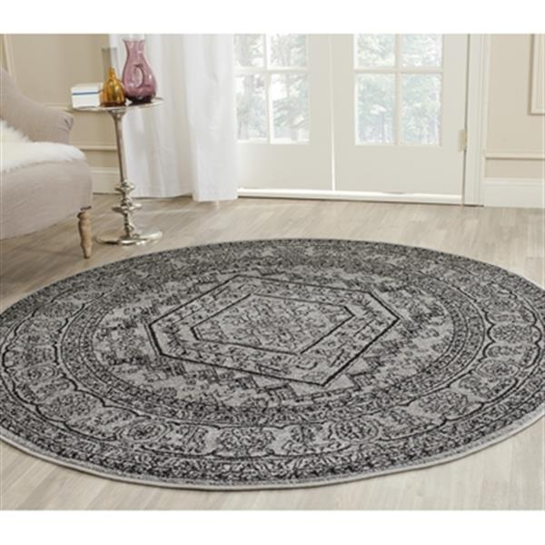 Safavieh Adirondack Silver and Black Area Rug,ADR108A-6