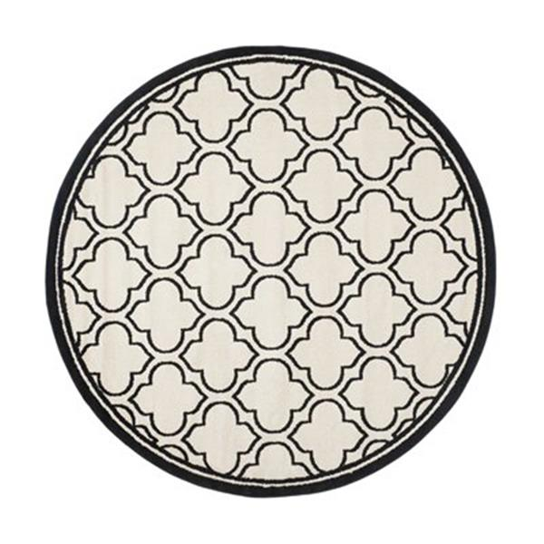 Safavieh Amherst 7 ft x 7 ft Ivory and Anthracite Area Rug