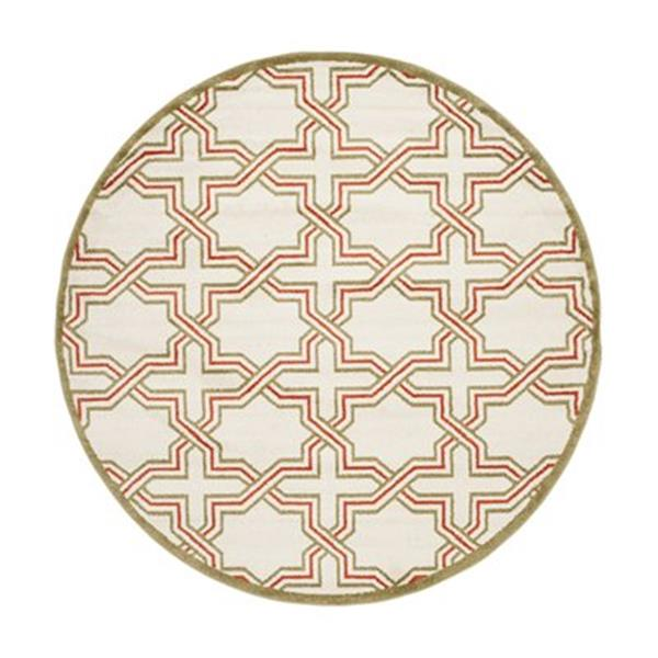 Safavieh Amherst 7 ft x 7 ft Ivory and Light Green Area Rug