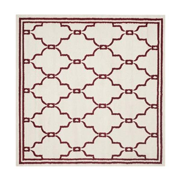 Safavieh Amherst 7 ft  x 7 ft Ivory and Red Area Rug