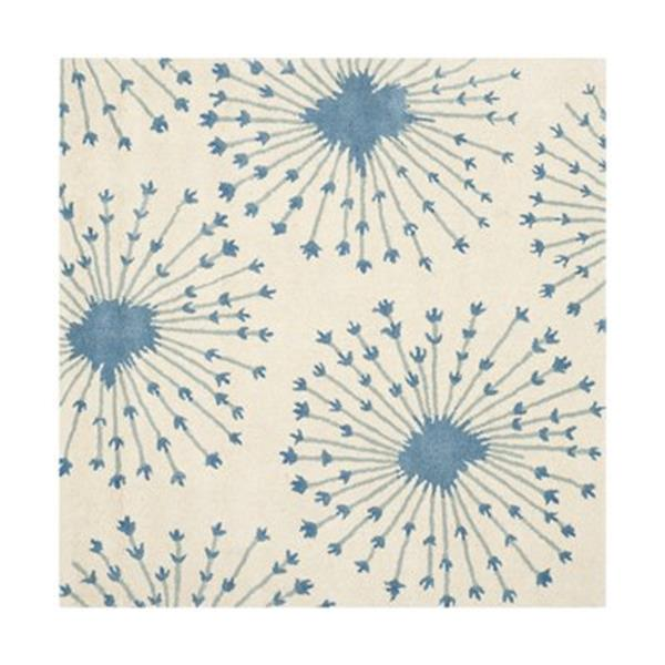 Safavieh BEL123B Bella Beige and Blue Area Rug,BEL123B-5SQ