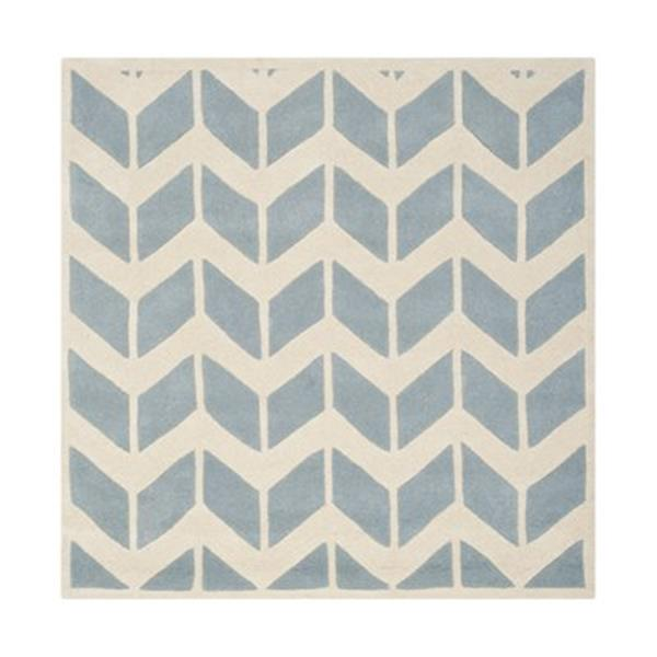 Safavieh Chatham Blue and Ivory Area Rug,CHT746B-5SQ