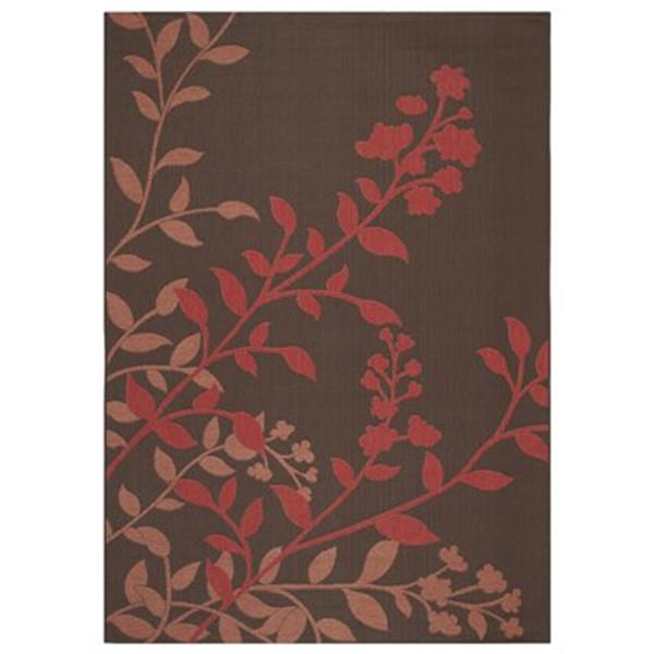 Safavieh Courtyard 7 ft x 10 ft  Chocolate and Red Area Rug