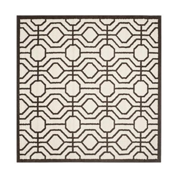 Safavieh Amherst  7 ft x 7 ft Ivory and Brown Area Rug