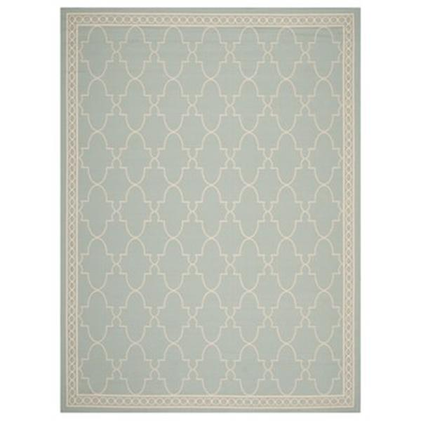 Safavieh Courtyard 7 ft x 10 ft Aqua and Beige Area Rug