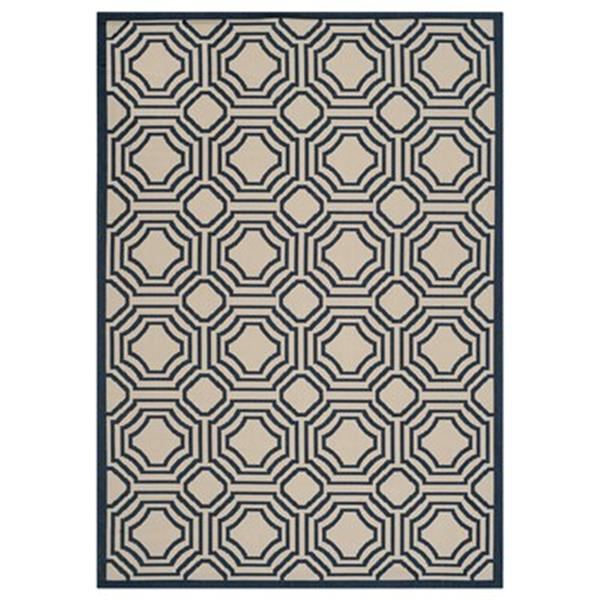 Safavieh Courtyard 7 ft x 10 ft Beige and Navy Area Rug