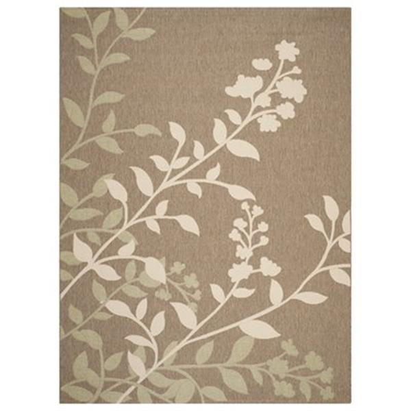 Safavieh Courtyard 7 ft x 10 ft Brown and Beige Area Rug