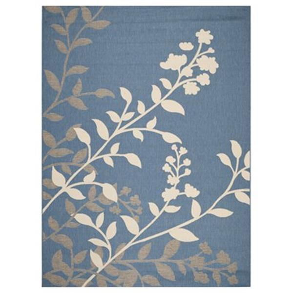 Safavieh Courtyard 7 ft x 10 ft Blue and Beige Area Rug