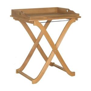 Safavieh 31.50-in Teak Brown Covina Tray Table