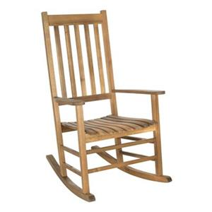 Safavieh 40.6-in x 26-in Teak-look Shasta Rocking Chair