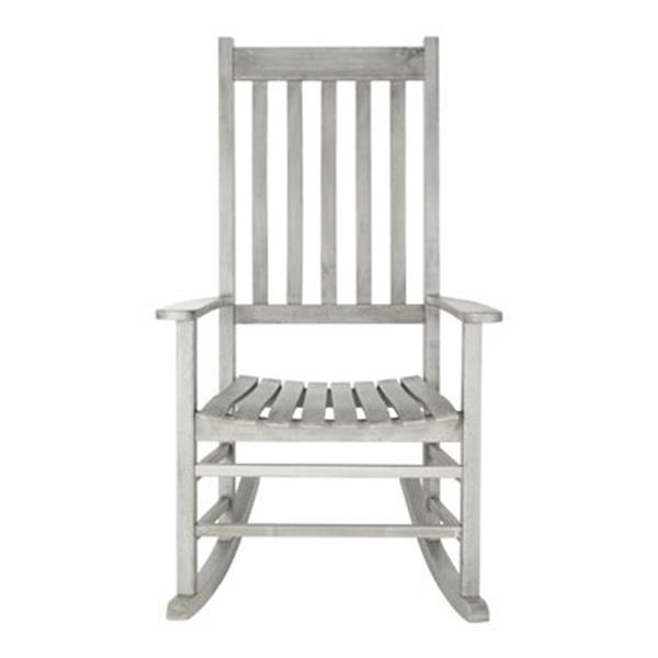 Safavieh 40.6-in x 26-in Grey Wash Shasta Rocking Chair