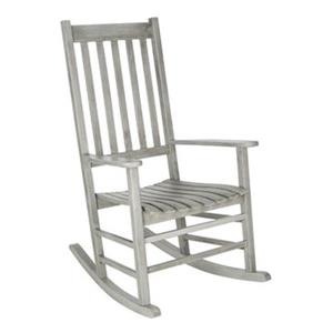 Safavieh 40.6-in x 26-in Grey Wash Shasta Rocking Chair