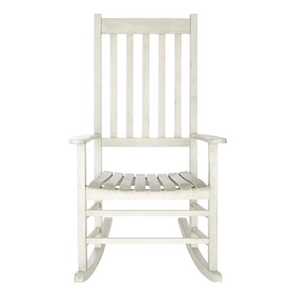 Safavieh 40.6-in x 26-in White Wash Shasta Rocking Chair