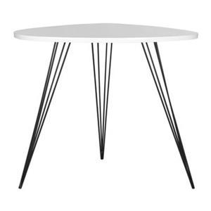 Safavieh Fox 23.6-in White/Black Wynton End Table