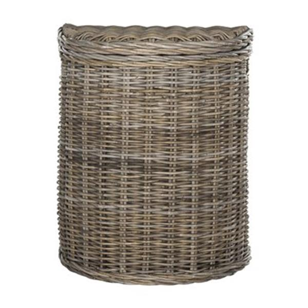 Safavieh Southeast Asia 15.70-in x 18.40-in x 25-in Grey Damari Hamper