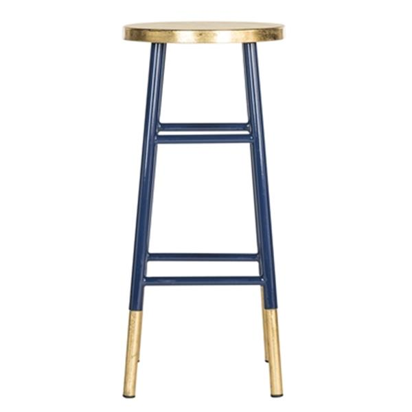 Safavieh Emery 30-in Navy Dipped Gold Leaf Bar Stool