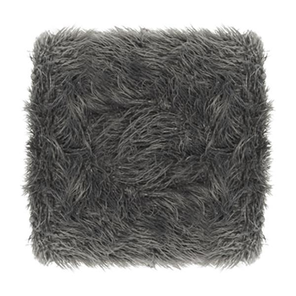 Safavieh Horace 16.50-in x 21.00-in Gray Faux Sheepskin Square Bench