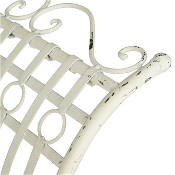 Safavieh Hadley 27-in x 56.3-in Antique White Outdoor Bench