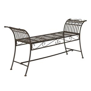Safavieh Hadley 27-in x 56.3-in Rustic Brown Outdoor Bench