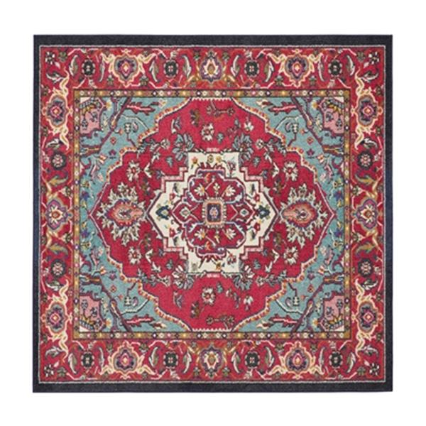 Safavieh Monaco Red and Turquoise Area Rug,MNC207C-7SQ