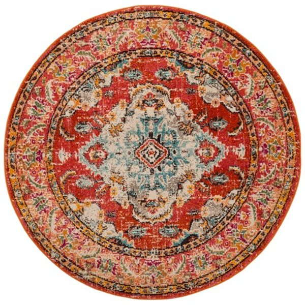Safavieh Monaco Orange and Light Blue Area Rug,MNC243H-7R