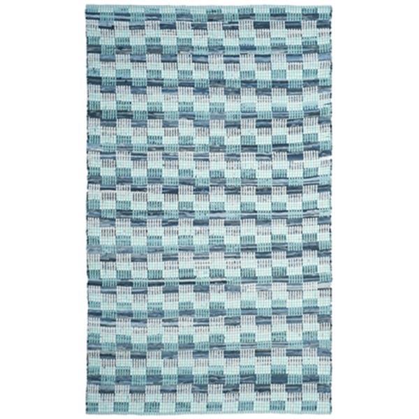 Safavieh Montauk Flat Weave Turquoise Multicolor Area Rug,MT