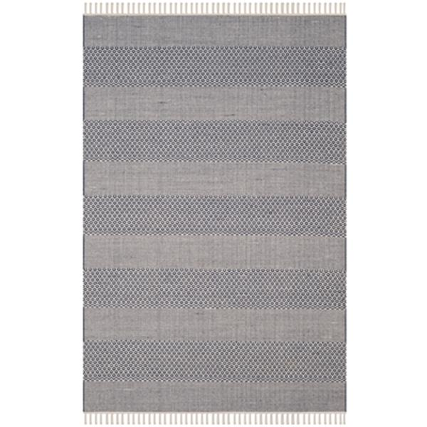 Safavieh Montauk Flat Weave Ivory and Navy Area Rug,MTK330B-