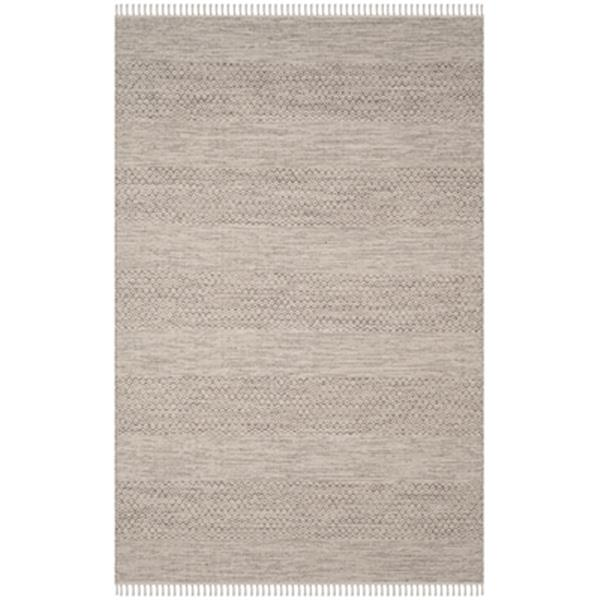 Safavieh Montauk Flat Weave Ivory and Steel Grey Area Rug,MT