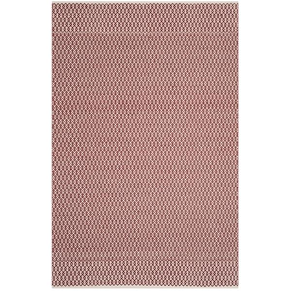 Safavieh Montauk Flat Weave Ivory and Red Area Rug,MTK339C-6
