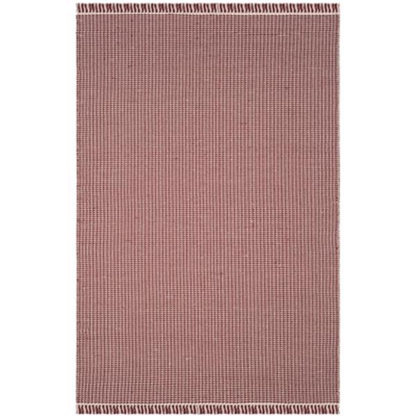 Safavieh Montauk Flat Weave Ivory and Red Area Rug,MTK340C-6