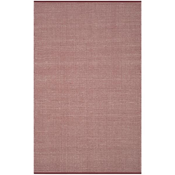 Safavieh Montauk Flat Weave Ivory and Red Area Rug,MTK345C-6