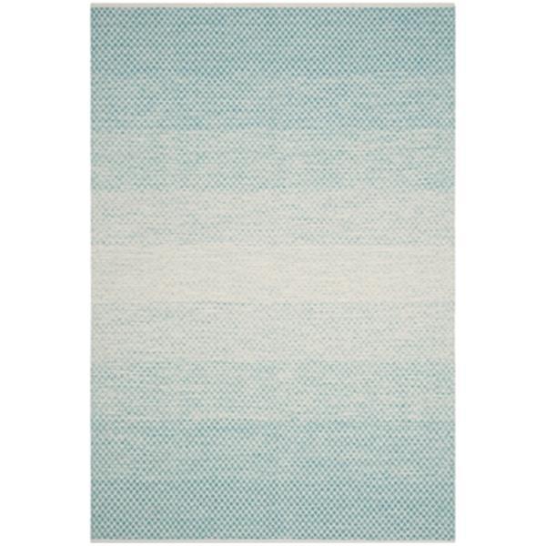 Safavieh Montauk Flat Weave Turquoise and Ivory Area Rug,MTK