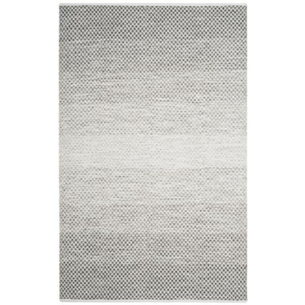 Safavieh Montauk Flat Weave Light Grey and Ivory Area Rug,MT