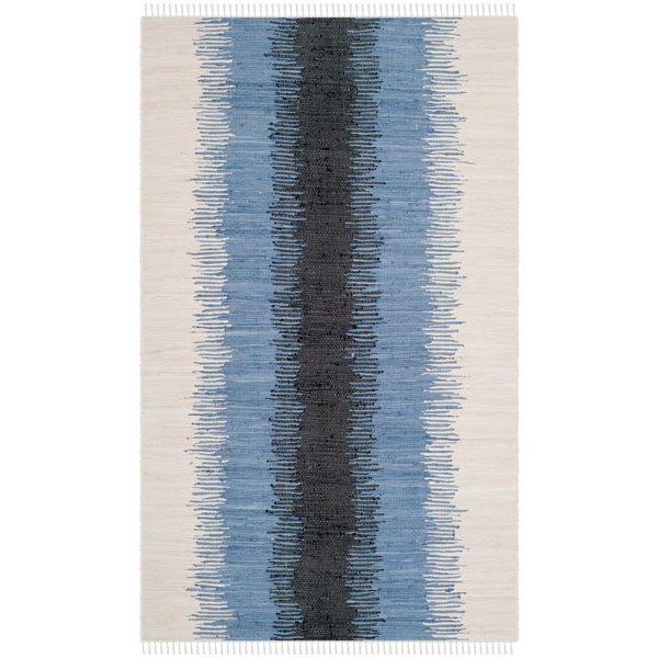 Safavieh Montauk Flat Weave Grey and Black Area Rug,MTK710A-