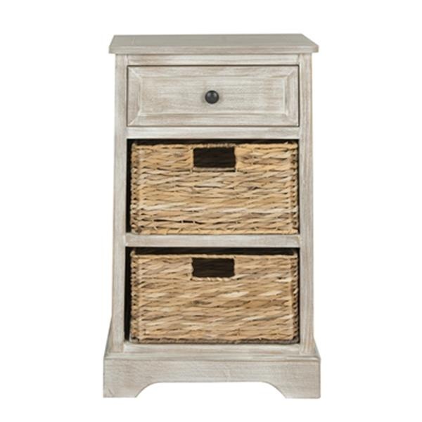 Safavieh Carrie 27.6-in Grey Storage Side Table