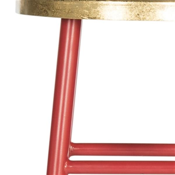 Safavieh Emery 30-in Red Dipped Gold Leaf Bar Stool