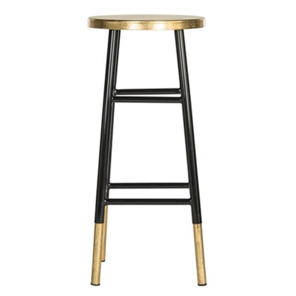Safavieh Emery 30-in Black Dipped Gold Leaf Bar Stool