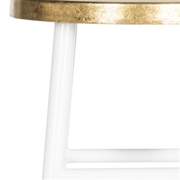 Safavieh Emery 30-in White Dipped Gold Leaf Bar Stool