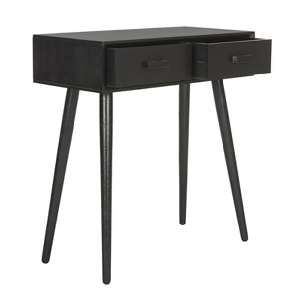 Safavieh Dean Black 2-Drawer Vanity Writing Desk
