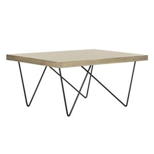 Safavieh FOX4265A Amos Retro Mid Century Wood Coffee Table,F
