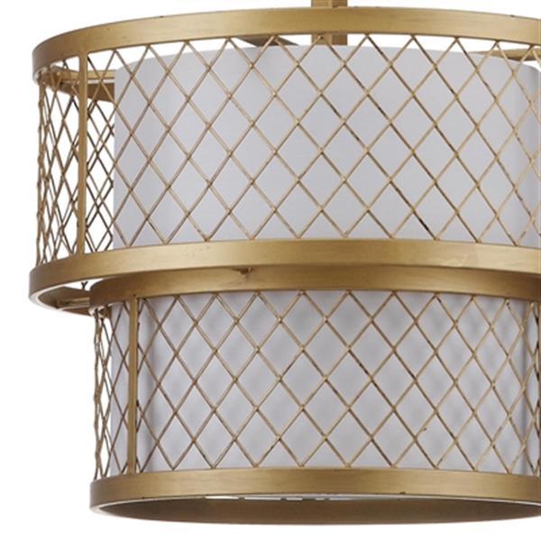 Safavieh Evie Antique 6 Light Gold Mesh Adjustable Pendant Light