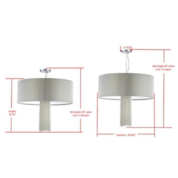 Safavieh Schroom Chrome 3-Light Adjustable Pendant