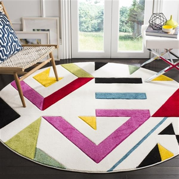 Safavieh Hollywood Ivory and Rose Area Rug,HLW700A-7R