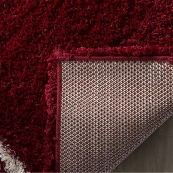 Safavieh Hudson Shag Red and Ivory Area Rug,SGH281R-5