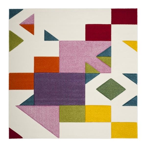 Safavieh Hollywood Ivory and Rose Area Rug,HLW702A-7SQ